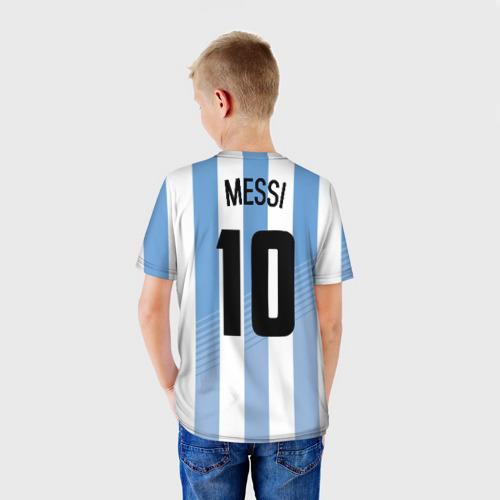 Детская футболка 3D 'Месси (сборная Аргентины)'