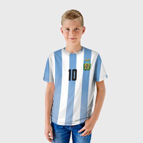 Детская футболка 3D Месси (сборная Аргентины)