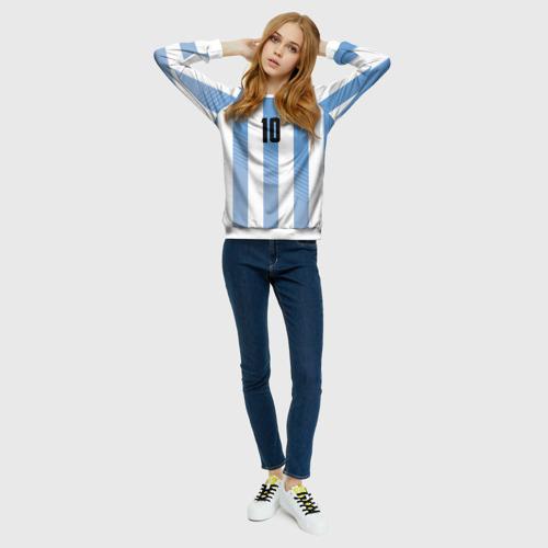 Женский свитшот 3D Месси (сборная Аргентины)