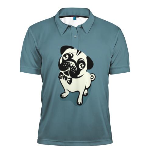 Мужская рубашка поло 3D  Фото 01, Собака
