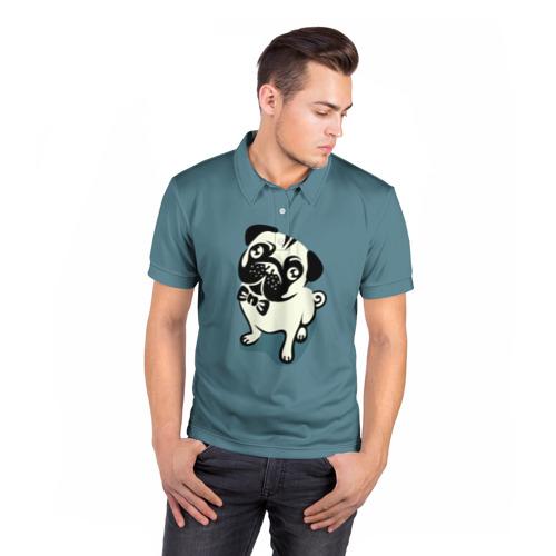 Мужская рубашка поло 3D  Фото 05, Собака