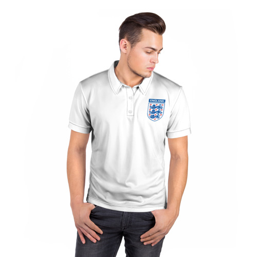 Мужская рубашка поло 3D  Фото 05, Сборная Англия