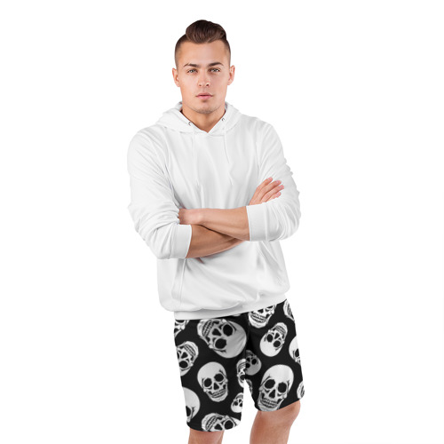 Мужские шорты 3D спортивные  Фото 05, Черепа