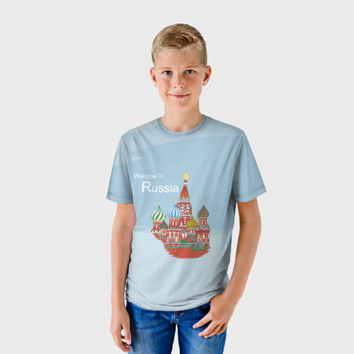 Детская футболка 3D Welcom To Russia
