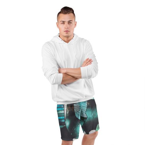 Мужские шорты 3D спортивные гранж