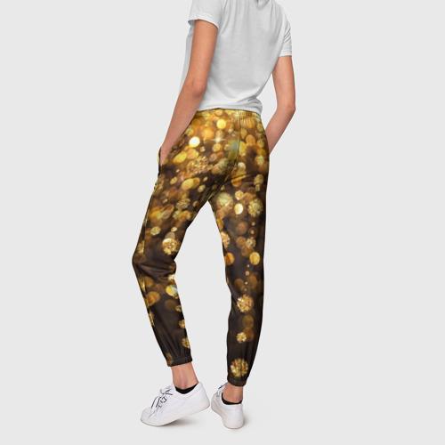 Женские брюки 3D Золотой дождь