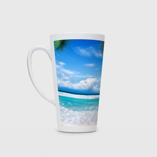 Кружка Латте Карибский пляж Фото 01