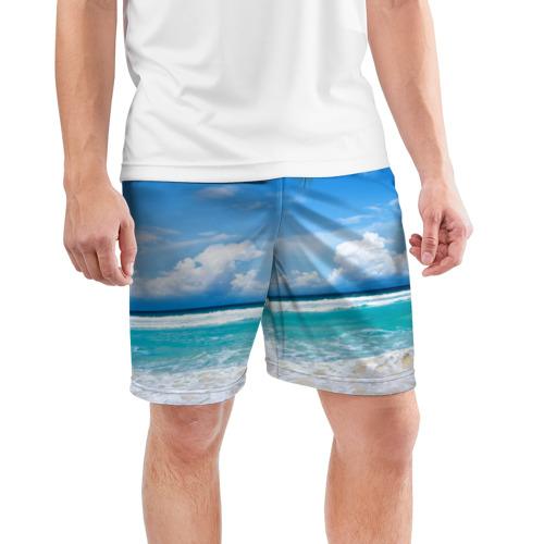 Мужские шорты 3D спортивные  Фото 03, Карибский пляж
