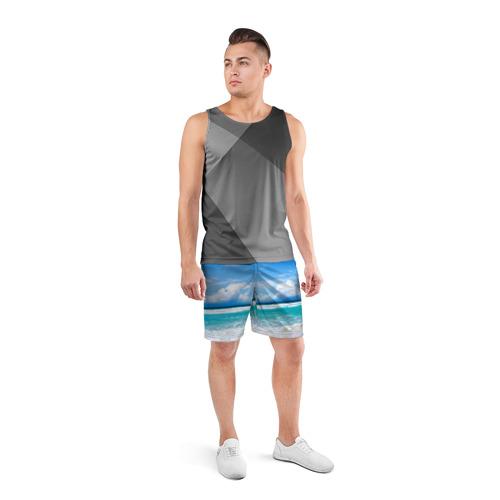 Мужские шорты 3D спортивные  Фото 04, Карибский пляж