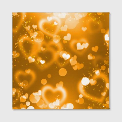 Холст квадратный  Фото 02, Золотые сердца