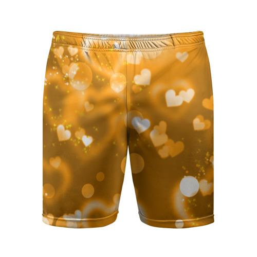 Мужские шорты 3D спортивные Золотые сердца