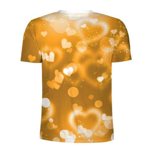 Мужская футболка 3D спортивная  Фото 02, Золотые сердца