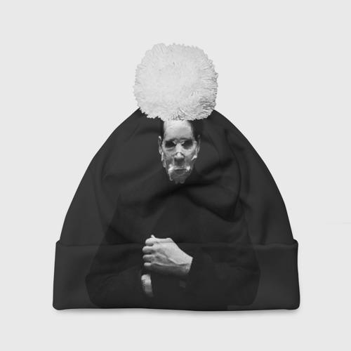 Шапка 3D c помпоном  Фото 01, Marilyn Manson
