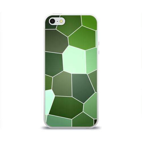 Чехол для Apple iPhone 5/5S силиконовый глянцевый Мозаика Фото 01