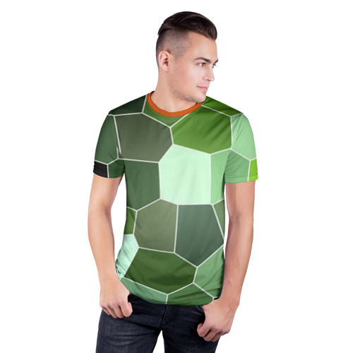 Мужская футболка 3D спортивная Мозаика Фото 01