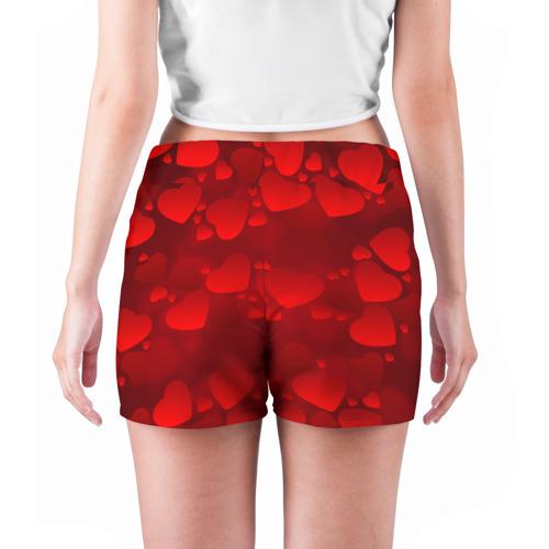 Женские шорты 3D  Фото 04, Красные сердца