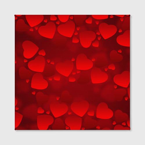 Холст квадратный  Фото 02, Красные сердца