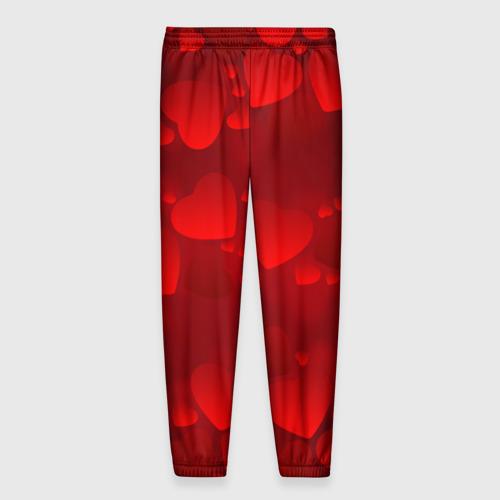 Мужские брюки 3D Красные сердца Фото 01