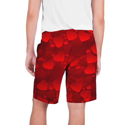 Мужские шорты 3D  Фото 02, Красные сердца