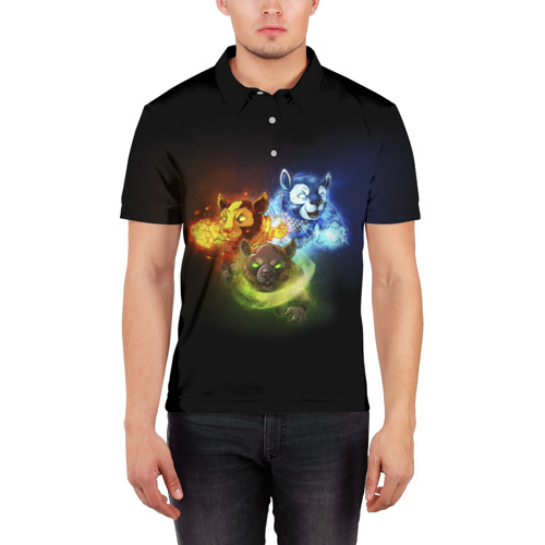Мужская рубашка поло 3D  Фото 03, Стихии