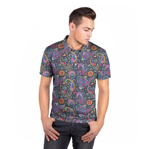Мужская рубашка поло 3D  Фото 05, Игра цвета и краски