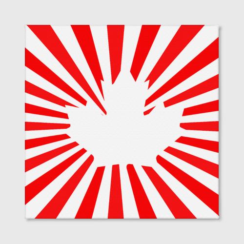 Холст квадратный  Фото 02, Кленовый лист