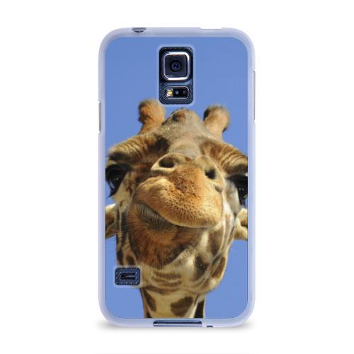 Чехол для Samsung Galaxy S5 силиконовый  Фото 01, Жирафик
