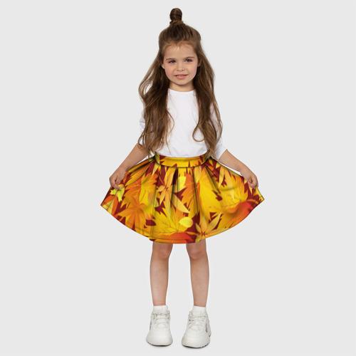 """Детская юбка-солнце 3D  Фото 03, Камуфляж \""""Золотая осень\"""""""