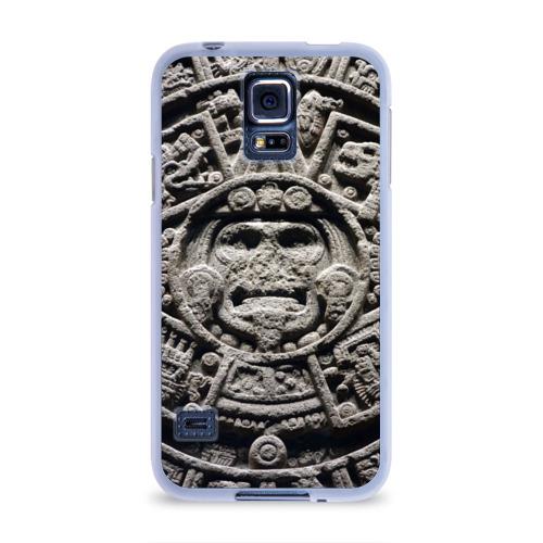 Чехол для Samsung Galaxy S5 силиконовый  Фото 01, Календарь ацтеков