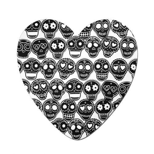 Магнит виниловый сердце  Фото 01, Черепа