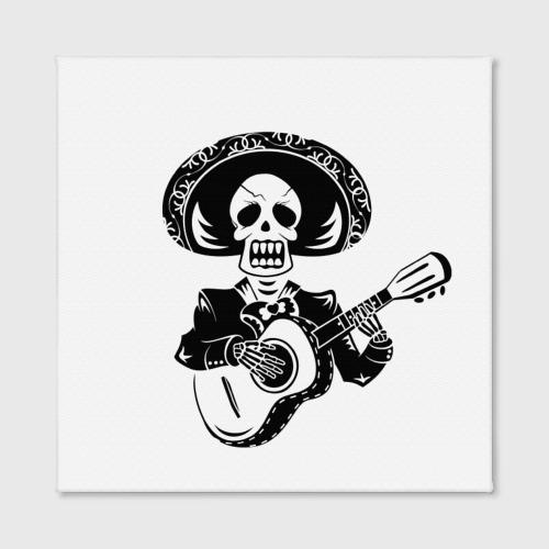 Холст квадратный  Фото 02, Мексиканский череп