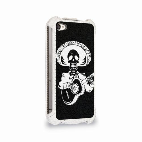 Чехол для Apple iPhone 4/4S flip  Фото 02, Мексиканский череп