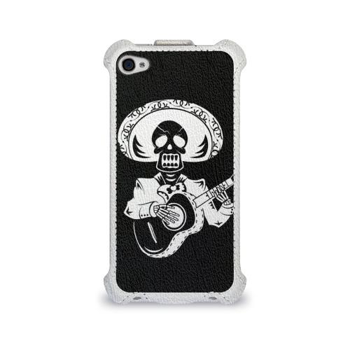 Чехол для Apple iPhone 4/4S flip  Фото 01, Мексиканский череп