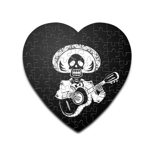 Пазл сердце 75 элементов  Фото 01, Мексиканский череп