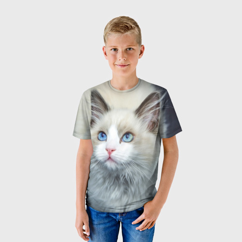 Кот белый