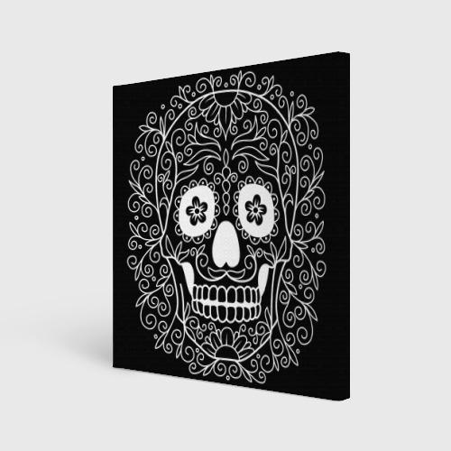 Холст квадратный  Фото 01, Мексиканский череп