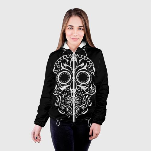Женская куртка 3D  Фото 03, Мексиканский череп