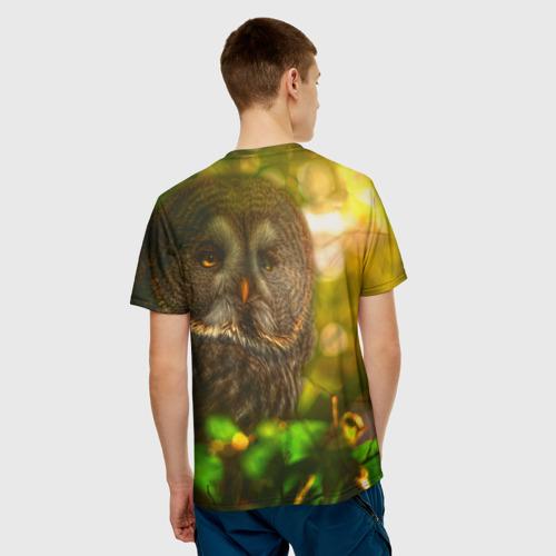 Мужская футболка 3D  Фото 02, Сова