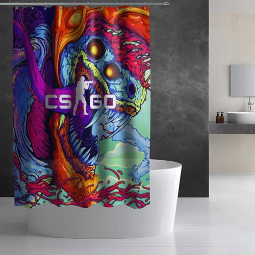 Штора 3D для ванной CS GO Фото 01