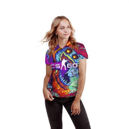 Женская рубашка поло 3D  Фото 03, CS GO