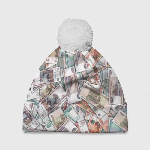 Шапка 3D c помпоном  Фото 01, Куча денег