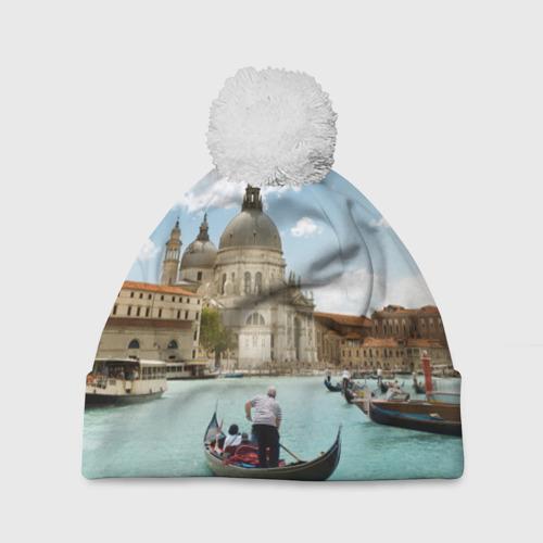 Шапка 3D c помпоном  Фото 01, Венеция