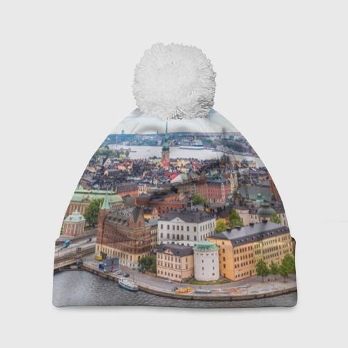 Шапка 3D c помпоном  Фото 01, Швеция