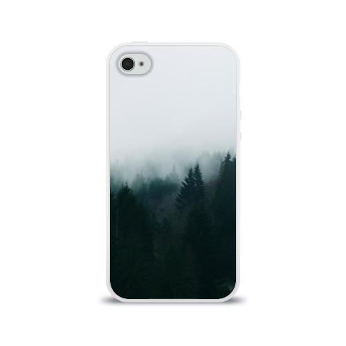 Чехол для Apple iPhone 4/4S силиконовый глянцевый Лес Фото 01