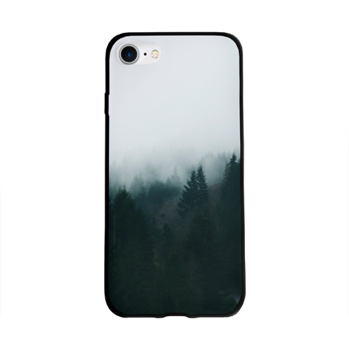 Чехол для Apple iPhone 8 силиконовый глянцевый Лес Фото 01