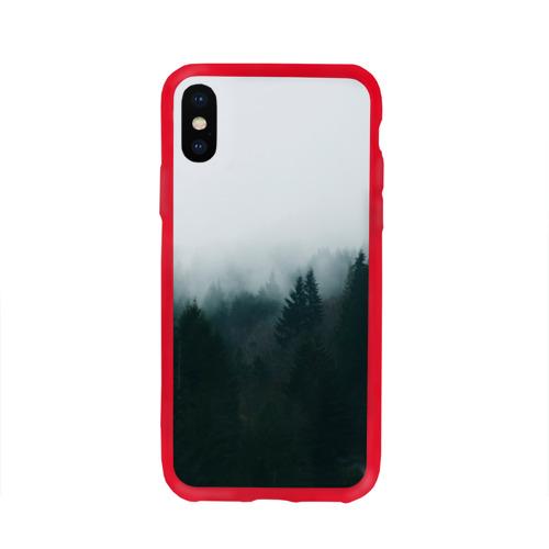 Чехол для Apple iPhone X силиконовый глянцевый Лес Фото 01