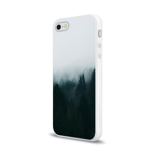 Чехол для Apple iPhone 5/5S силиконовый глянцевый Лес Фото 01