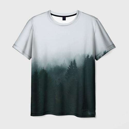 Мужская футболка 3D 'Лес'