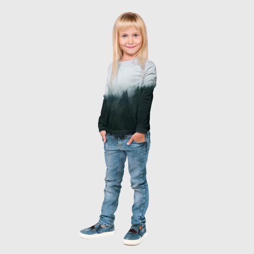 Детский лонгслив 3D  Фото 04, Лес