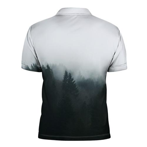 Мужская рубашка поло 3D  Фото 02, Лес
